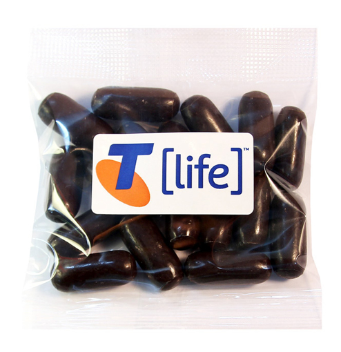 Picture of Bullets - Dark Choc Licorice  50g