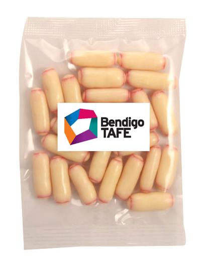 Picture of Bullets -White Chocolate Raspberry Bullets 50g