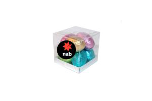 Picture of MINI SOLID EASTER EGGS IN SMALL cube 90g