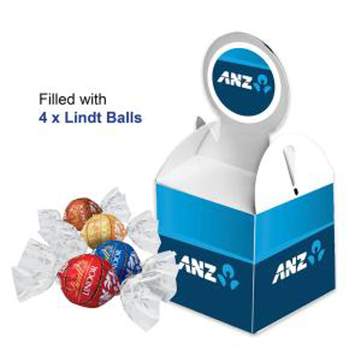 Picture of Billboard Cube with 4 x lindt balls Mixed flavours)