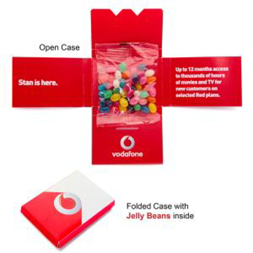Picture of Kit Kat case with 30g Bag Mini Jelly Beans
