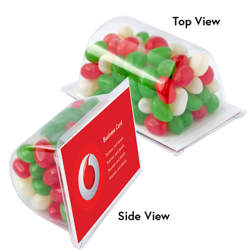 Picture of Biz Card Treats with Christmas Mini Jelly Beans