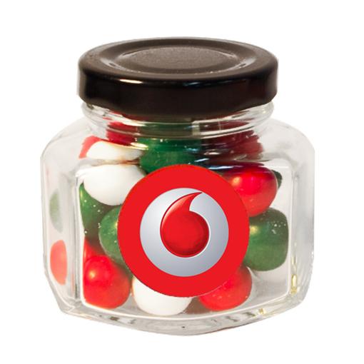 Picture of Mini Screw Top Jar  with Xmas choc balls