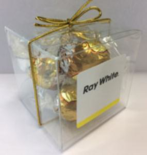 Picture of 5  Lindt Chocolates  in Cube with Bow