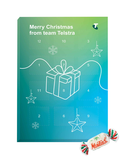 Picture of Advent Calendar 12 days with Minties