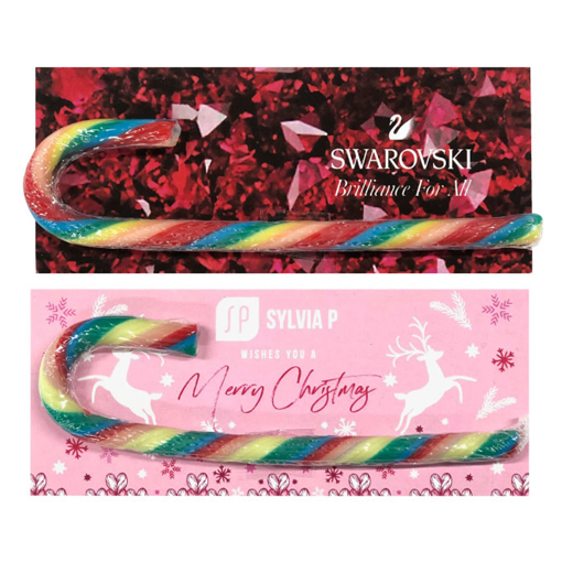 Picture of Christmas Candy Cane Card, assorted coloured canes