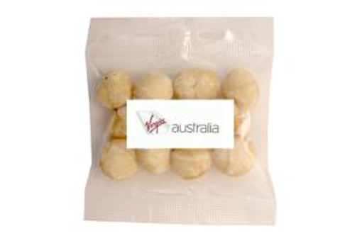 Picture of Dry Roasted Unsalted Macadamias in 50g Bag