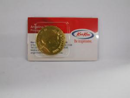 Picture of Gold Choc Coin Unbranded in Biz Card Slider