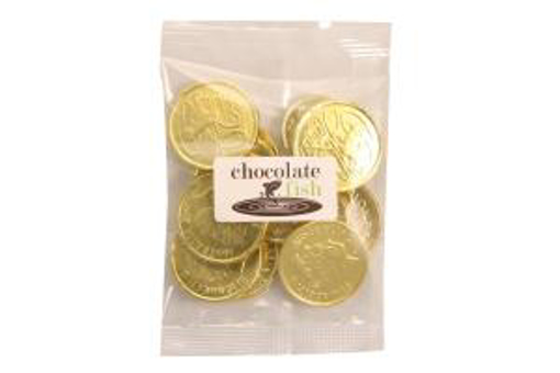 Picture of Gold Choc Coins in 50g Bag