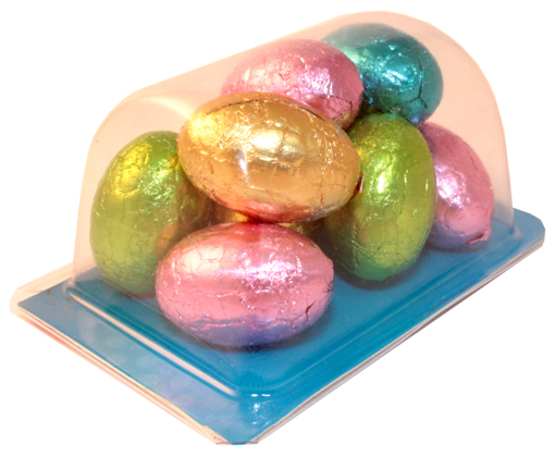 Picture of Biz Card Treats with Solid Milk Chocolate Eggs