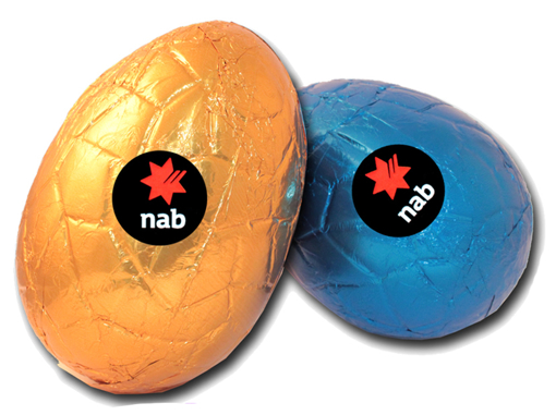 Picture of 130g Hollow Milk Chocolate Easter Egg with label